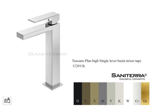 112011h High Single Lever Basin Mixer PLAN