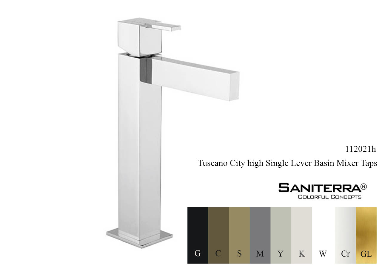 112021h High Single Lever Basin Mixer CITY