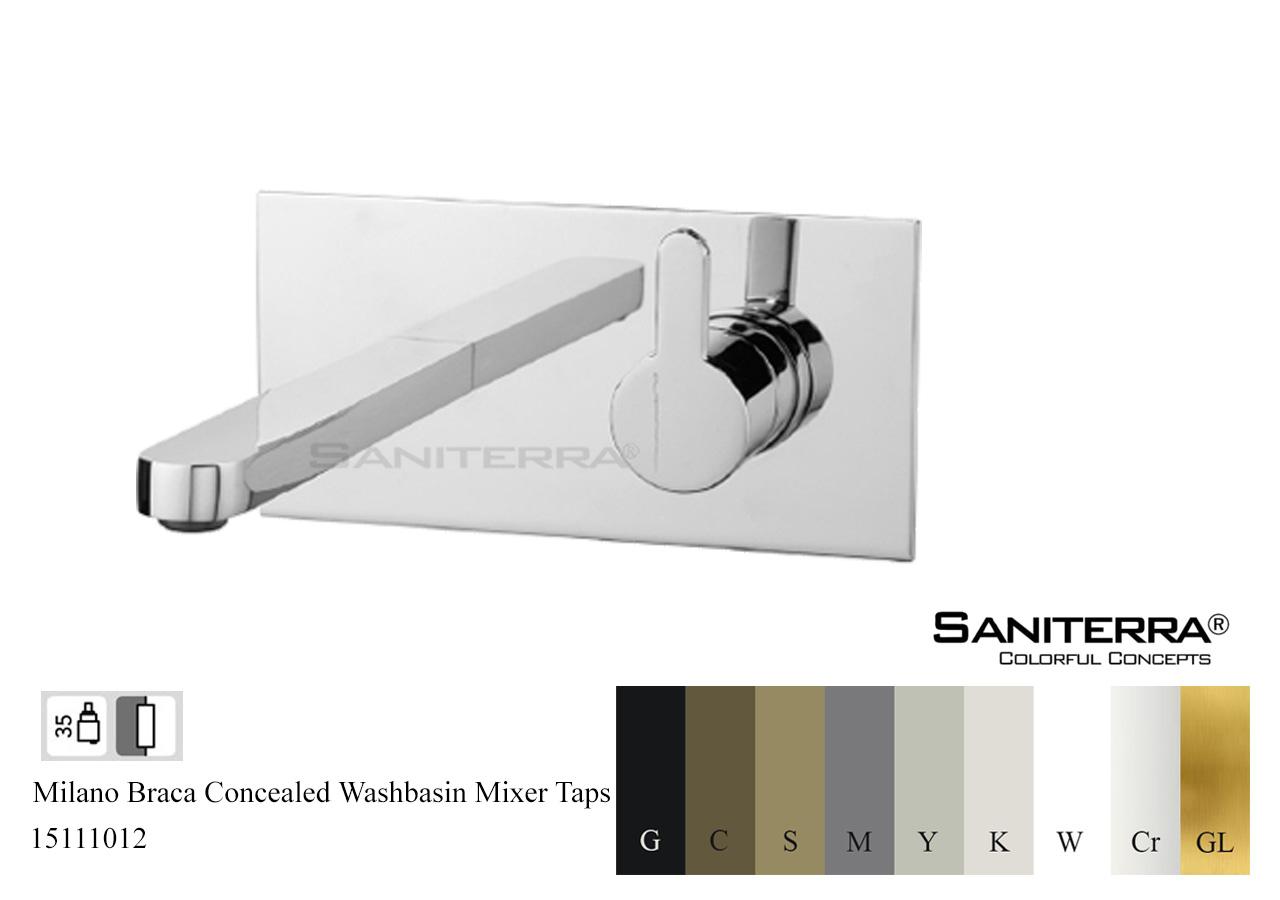 15111012 Concealed Washbasin Mixer BRACA