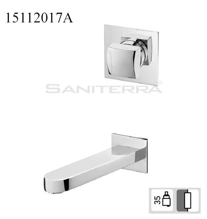 15112017A Concealed Washbasin Mixer KING