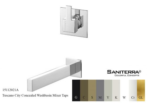 15112021A Concealed Washbasin Mixer CITY