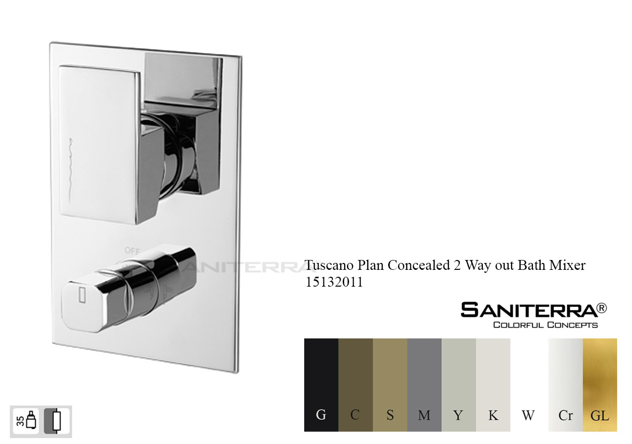 15132011 Concealed 2 way out Bath Mixer PLAN