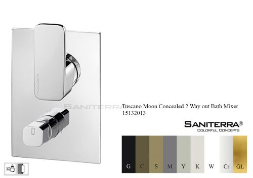 15132013 Concealed 2 way out Bath Mixer MOON