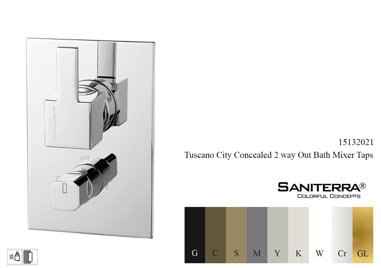 15132021 Concealed 2 way out Bath Mixer CITY