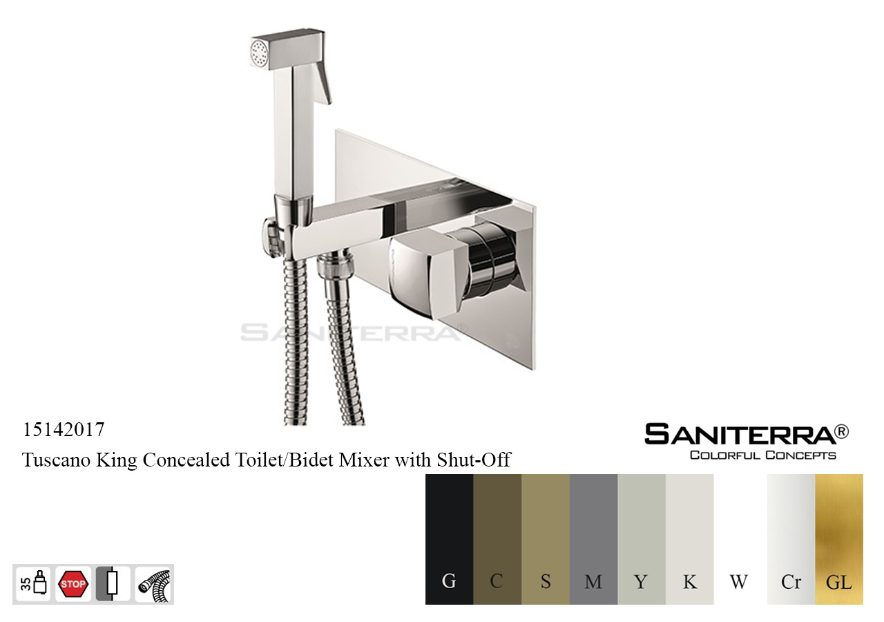 15142017 Concealed Bidet Mixer with Shut off KING