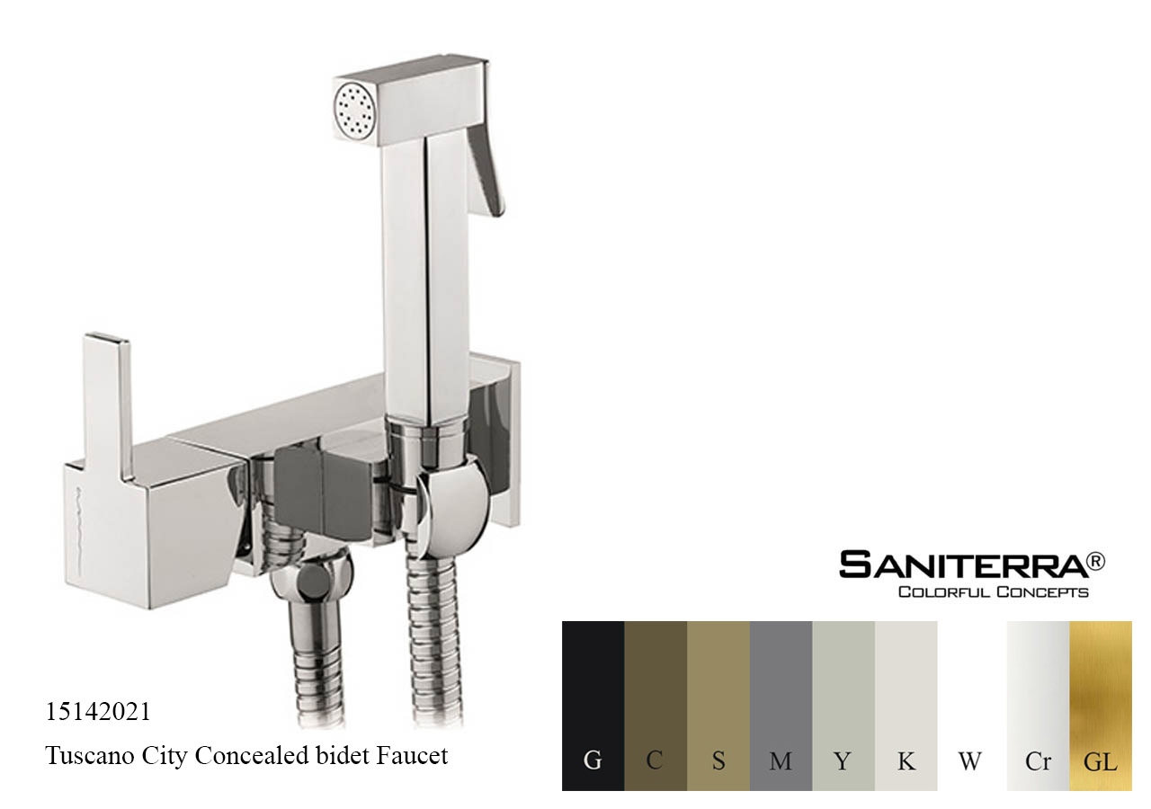 15142021 Concealed Bidet mixer with Shut off CITY