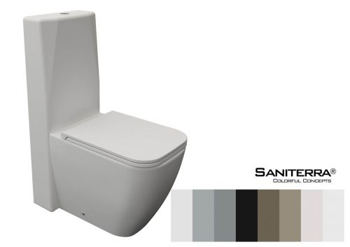 222012 Toilet Close Coupled Tuscano 65*35 cm