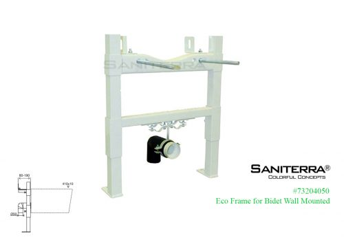 73204050 Eco Frame for Bidet Wall Mounted